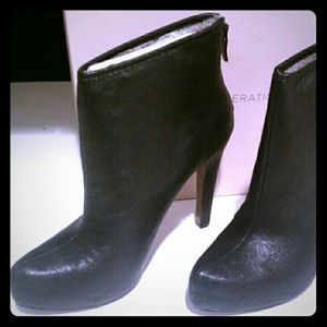 BCBG fur lined ankle boot..